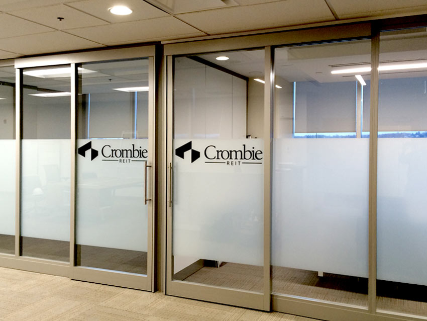 Frosted Privacy Window Etch Graphics Door Logos Design